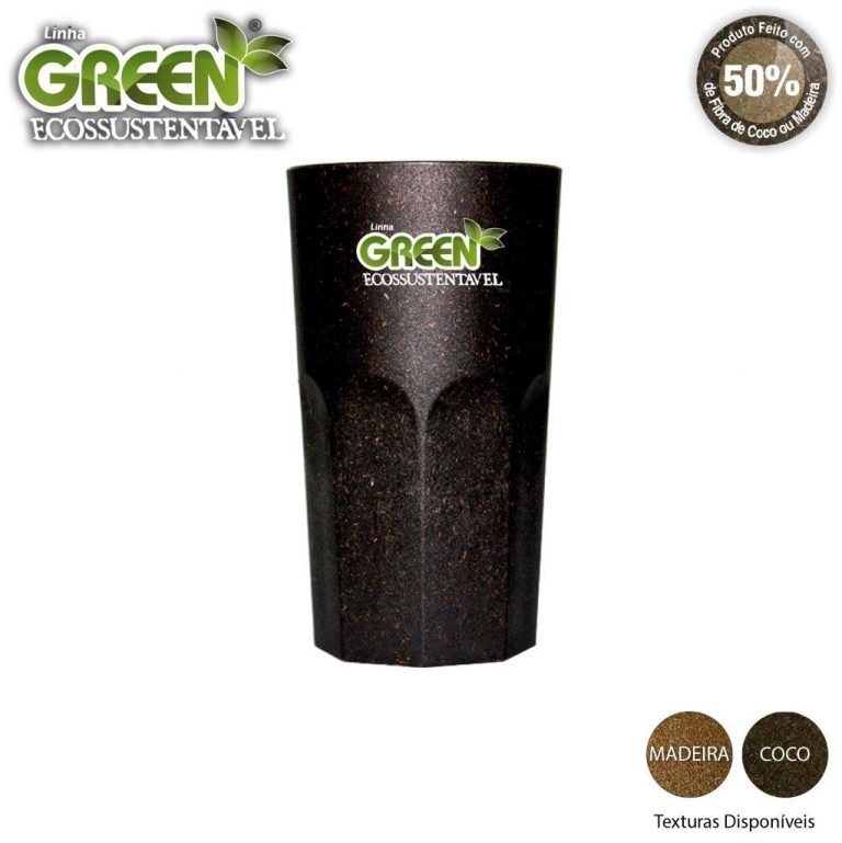 Copo Roma Green Personalizável 380ml - Fibra
